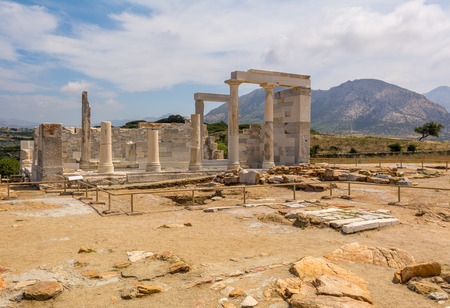 The Temple of Demeter located near the village of Sangri on Naxos Island. Cyclades. Greece