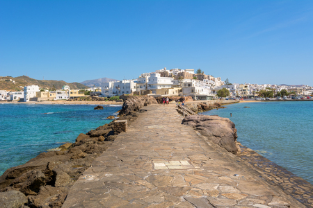 View from the Apollo temple to the city, Naxos (Chora), Cyclades, Greece