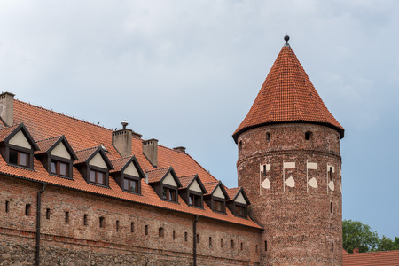 Gothic teutonic Knights castle in Bytow. Poland Editorial