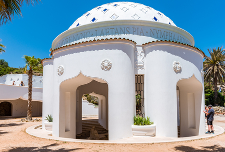 RHODES, GREECE - May 13, 2018: Restored building of the complex of Kallithea Springs in Rhodes, Greece Editorial