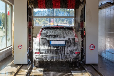Automatic brush car wash.