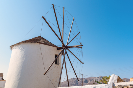 A picturesque windmill in Ano Chora on the island of Serifos. Greece