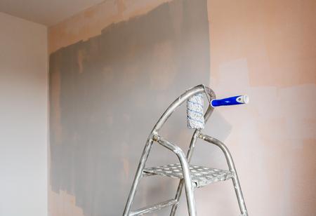 Apartment interior at painting and renovation. Reklamní fotografie