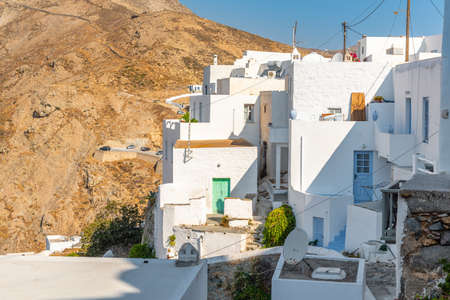 Traditional Cycladic architecture in Serifos. Greece