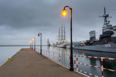 GDYNIA, POLAND - December 31, 2016: Ship museum destroyer ORP Blyskawica