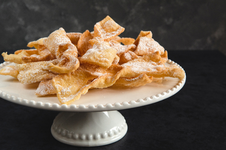 Faworki, Chrusty, Angel Wings - traditional Polish pastries served during Carnival. Fat Thursday, just befor Lent.