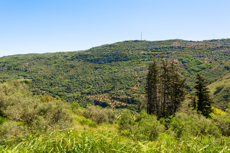 Mountainous nature of western part of the island of Crete. Greece