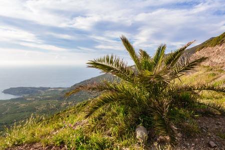 West coast of Crete on a sunny spring day. Greece, Europe Banco de Imagens