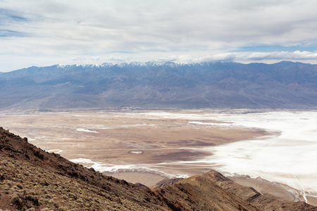 View of Badwater Basin from Dante's View point in Death Valley National Park. California, USA