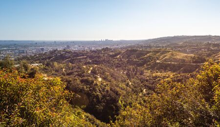 Panorama of Los Angeles city in California. USA
