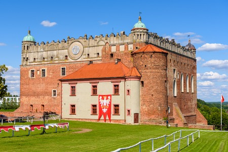 GOLUB-DOBRZYN, POLAND - July 18, 2019: Castle in Golub-Dobrzyn - Teutonic castle from the turn of the 13th and 14th centuries, preserved in the Gothic-Renaissance style.