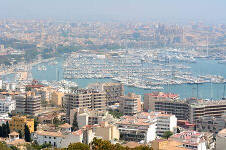 Palma de Mallorca - view of the city on a foggy day. Balearic island, Spain 写真素材