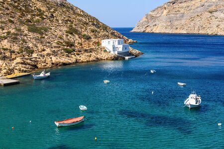 Heronissos bay at the north edge of Sifnos. Cyclades islands, Greece