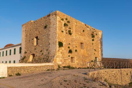 The Monastery on the top of El Toro Mountain - the highest peak of Menorca, Balearic Islands, Spain