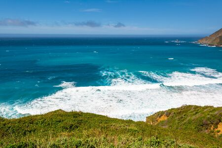 The Pacific coast and ocean at Big Sur region. California landscape, United States