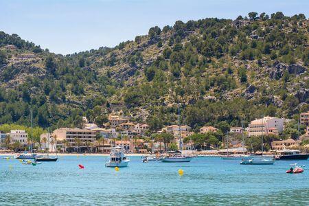 Port de Soller, Majorca seaside resort, a popular tourist destination. Baleares, Spain Banque d'images