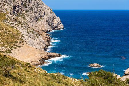 Cala Figuera, beautiful sea bay on Majorca island, Baleares, Spain Banque d'images