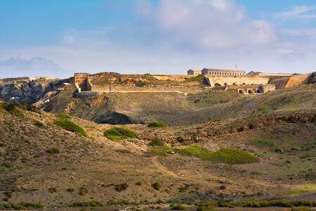 Vue de Fortaleza de La Mola, les plus grandes forteresses européennes construites au 19ème siècle à Minorque. Baléares, Espagne