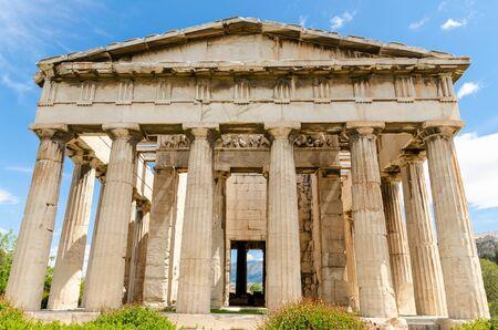 Tempel des Hephaistos in der antiken Agora, Athen, Griechenland.