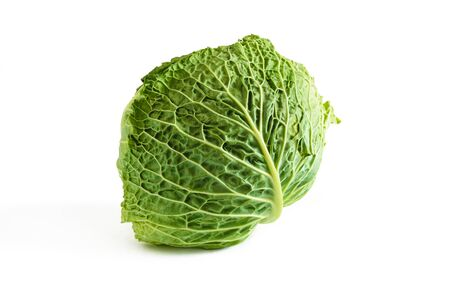 Fresh early cabbage isolated on a white background