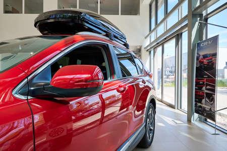 Gdansk, Poland - May 28, 2020: New model of Honda CR-V presented in the car showroom of Gdansk