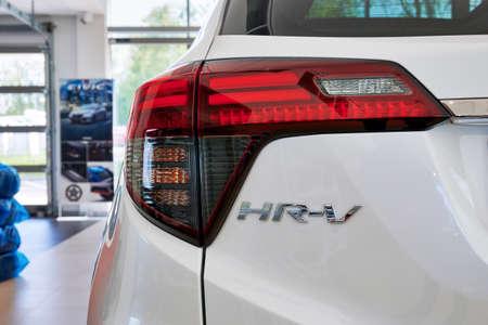 Gdansk, Poland - May 28, 2020: New model of Honda HR-V presented in the car showroom of Gdansk