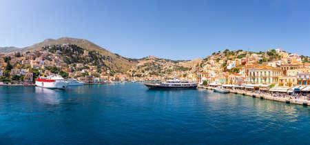 Panoramic view of Symi island in Greece. europe Standard-Bild