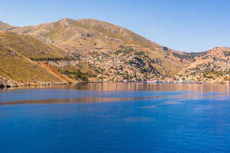 Scenic landscape of Symi island in Greece. europe