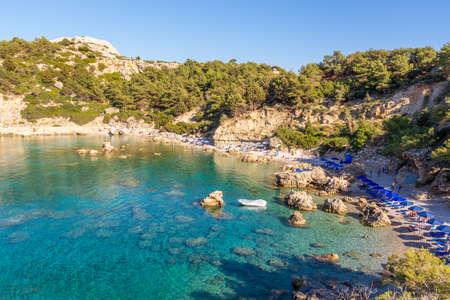Anthony Quinn Bay, secluded beach on the island of Rhodes. greece