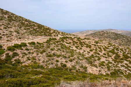 The beautiful coast of Antiparos Island. Aegean Sea, Cyclades, Greece