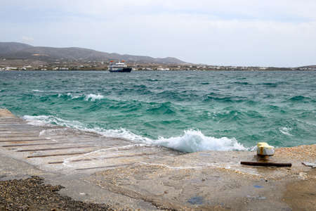 The turquoise color of the Aegean Sea between the island of Paros and Antiparos in the Cyclades. Greece