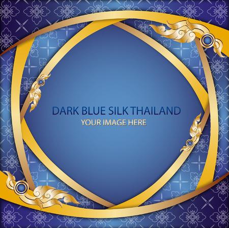 thai silk: Dark blue silk thailand Illustration