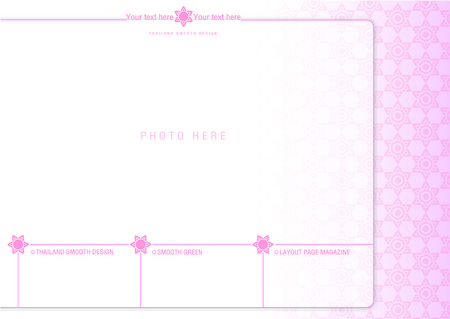 pastel tone: thailand smooth page layout design 3 Illustration