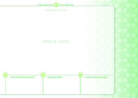 pastel tone: thailand smooth page layout design 2 Illustration