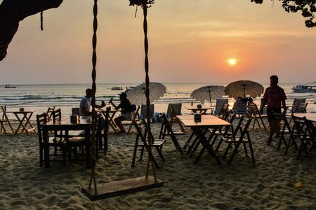 samet: Beach Sunset in kon samet 4 Editorial