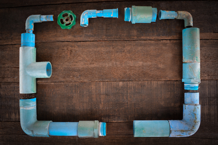 water pipe: water pipe antiques Frame in wood board 2