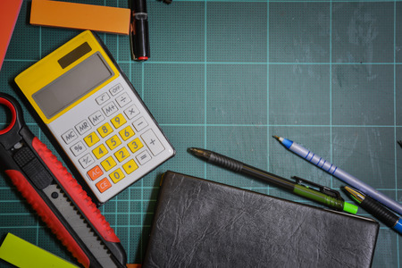 rubber sheet: school and office supplies 2 Stock Photo