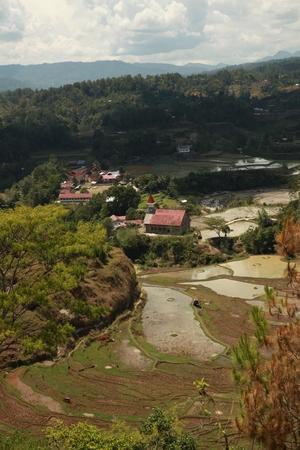 toraja: Bird eye view of Tana Toraja, Indonesia Stock Photo