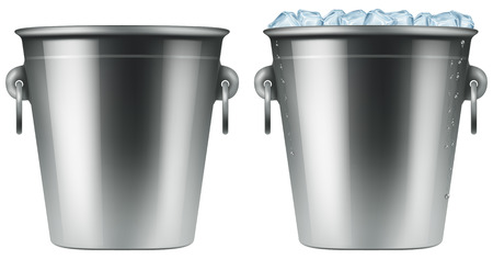 cold steel: Ice bucket. Photo-realistic illustration.