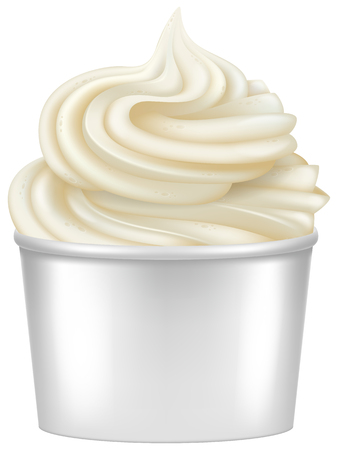 frozen food: Frozen Yogurt illustration.