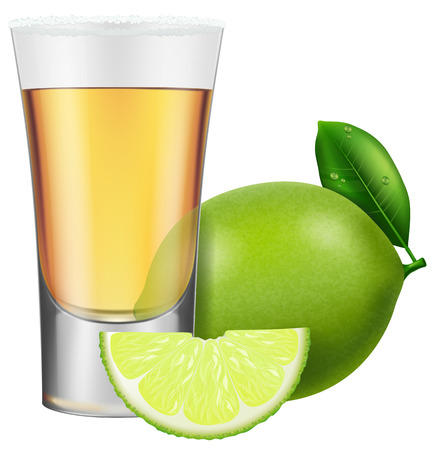 Tequila with lime and salt.