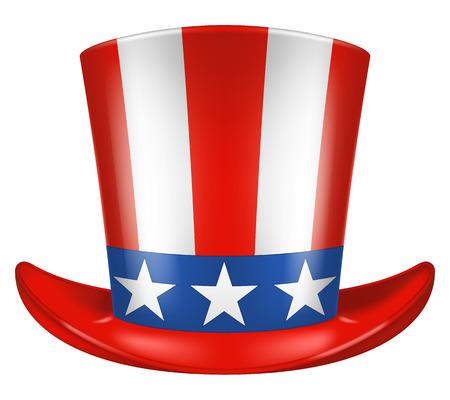 uncle: Uncle Sams hat. Vector illustration. Front view. Illustration