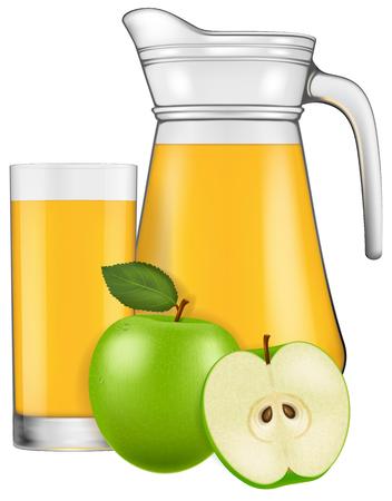 apple juice: A jug of apple juice. Vector illustration. Illustration