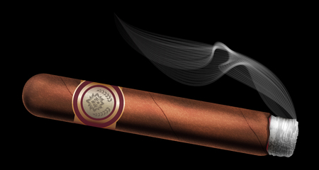 havana cigar: Cigar. Vector illustration.
