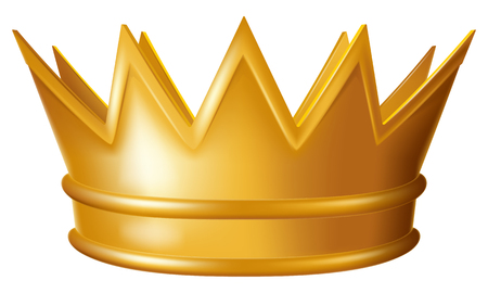 Golden crown Vector illustration.  イラスト・ベクター素材