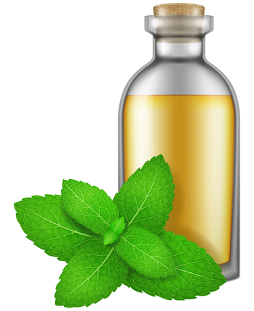 Flask of Peppermint oil.