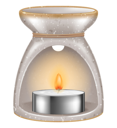 Aroma lamp. Vector illustration.