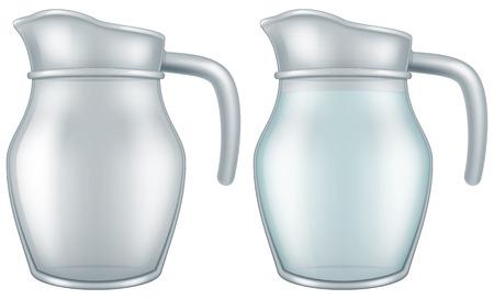 Glass jar. Vector illustration.