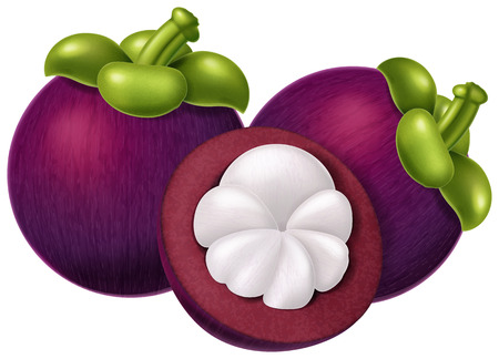 Mangosteen fruit.