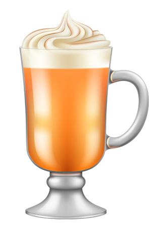 Pumpkin latte. Vector illustration. Illustration